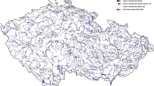 Image result for mapa toků v čr